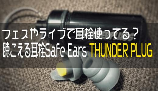 フェスやライブで耳栓使ってる?聴こえる耳栓Safe Ears THUNDER PLUGをおすすめしたい
