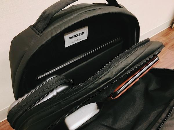 incase(インケース)のリュック cl55450メインポケットの収納