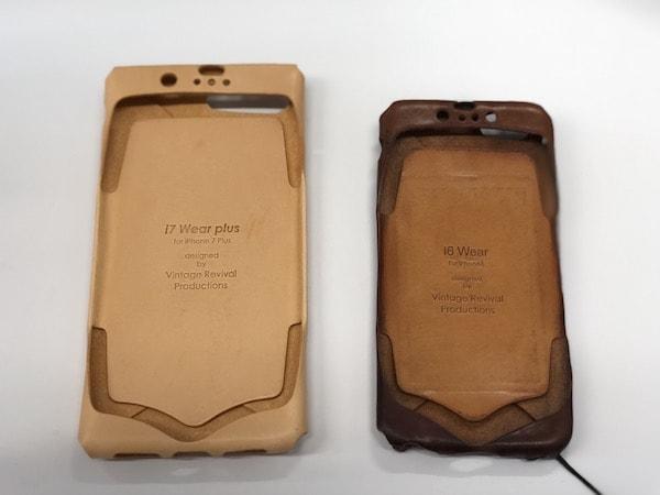 革製のおしゃれなiPhoneケースi Wear  経年変化